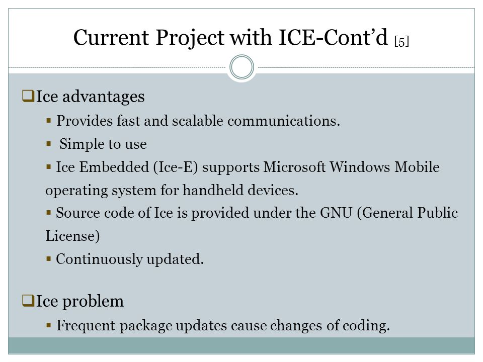 Current Project with ICE-Cont'd [5]